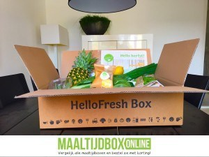 Hellofresh box vooraanzicht